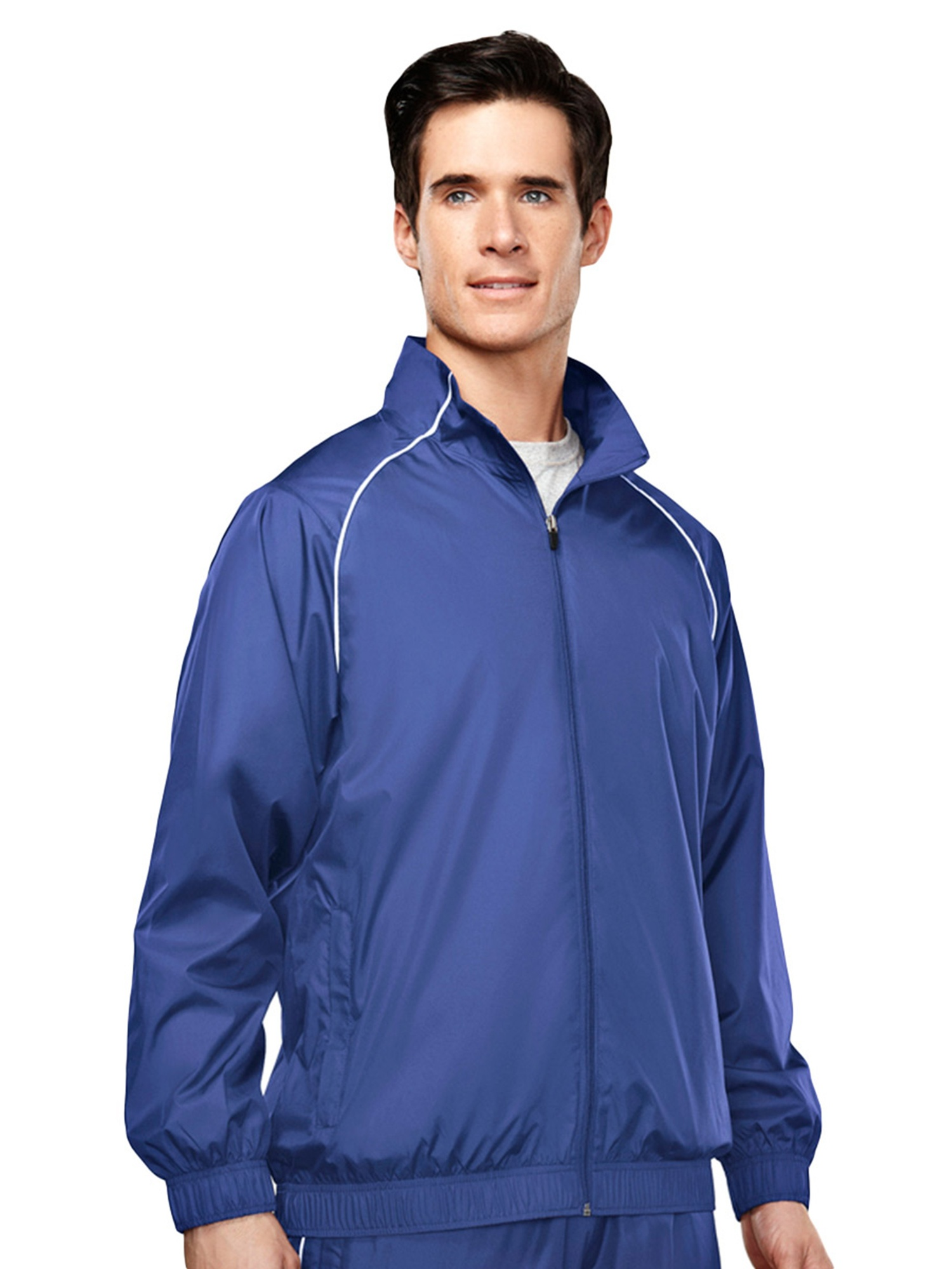 Tri-Mountain Men's Lightweight Water Resistant Sport Jacket