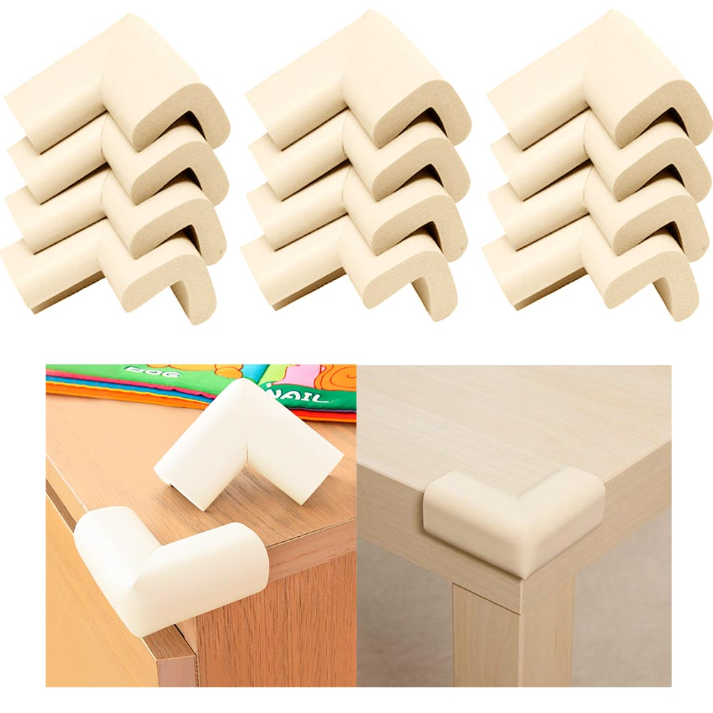 12X Corners Cushion Baby Safety Table Desk Edge Guard Softener Bumper Protectors