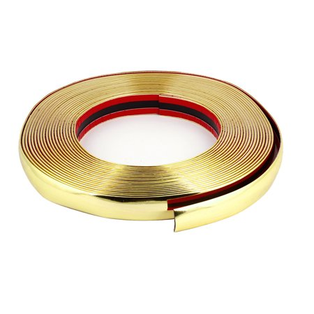25mm Width Gold Tone Flexible Car Chrome Moulding Trim Strip