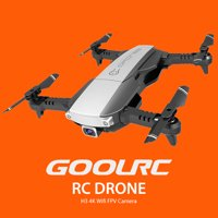 GoolRC RC Drone with Camera 4K Wifi FPV Optical Positioning Gesture Photo Foldable Quadcopter with 2 Battery