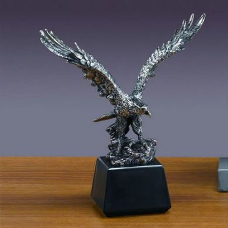 Treasure of Nature Antique Silver Eagle Statue Figurine M