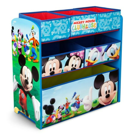 - Disney Mickey Mouse Multi-Bin Toy Organizer by Delta Children