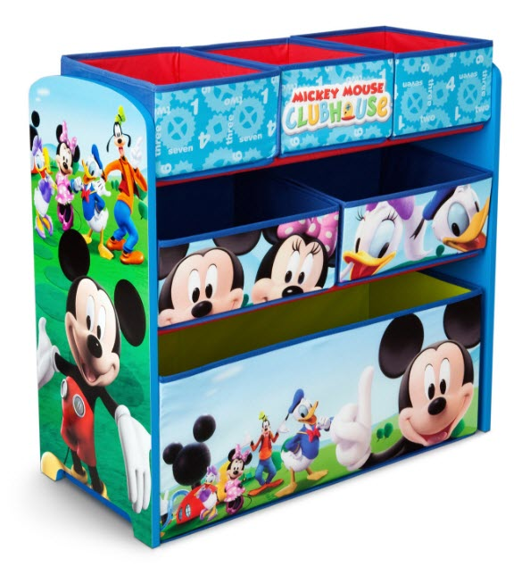 Toddler/Kidsu0027 Playroom Multi Bin Toy Organizer (Your Choice Of Character)