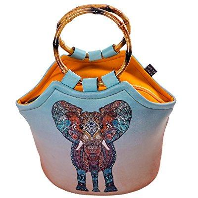 neoprene lunch purse by art of lunch-artist monika strigel (germany) and art of liv'n have partnered to adopt an orphaned elephant and giraffe through the david sheldrick wildlife trust - elephant