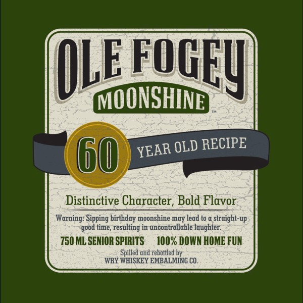 Ole Fogey Moonshine - A Very Old 60th Birthday Lunch Napkins (16 ct)