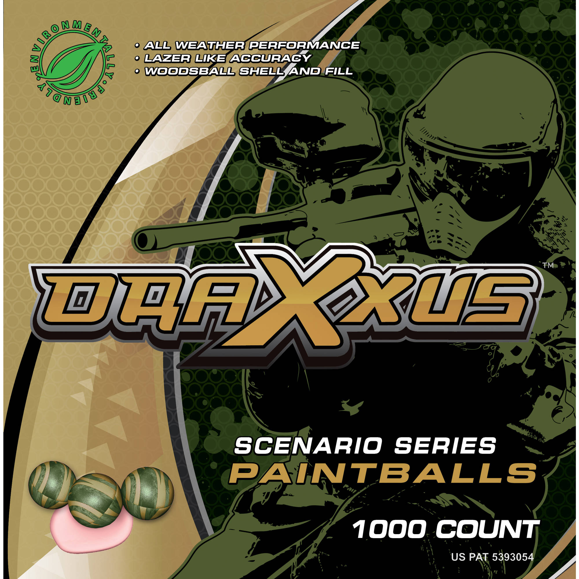 Draxxus Scenario 1000 ct Paintballs