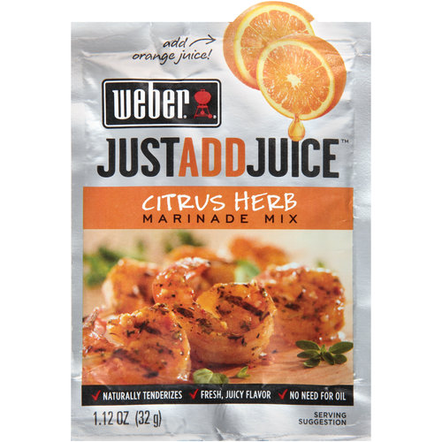 Weber Just Add Juice Citrus Herb Marinade Mix, 1.12 oz