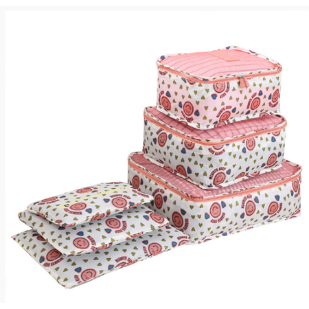 0395b08ebe4d 6Pcs/Set Portable Travel Storage Bags Clothing Luggage Pouch Storage Box  Organizer Set Waterproof