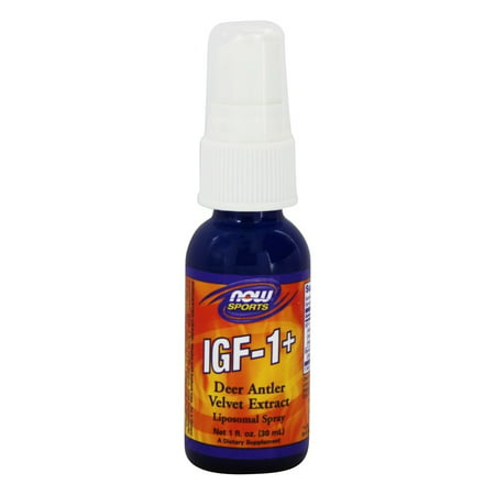 NOW Foods - IGF-1 Plus Lipospray Deer Antler Velvet Extract - 1 (Best Deer Antler Velvet Extract)