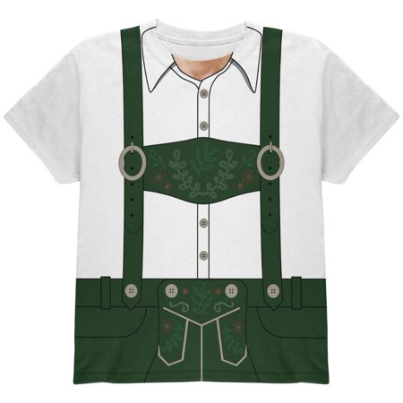 Halloween Lederhosen Yodelling Yodeller Costume Swiss All Over Youth T - Mastodon Halloween Mp3