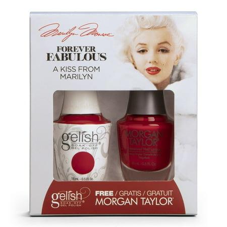"Gelish Gel Polish + Morgan Taylor Nail Polish ""Forever Fabulous Collection"" Duo #1410335 A Kiss From Marilyn"