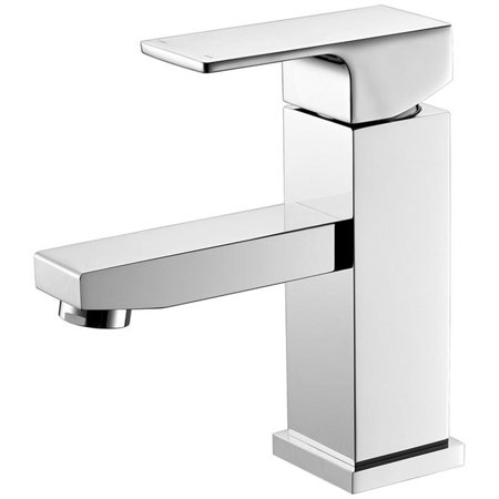 Luxurious Single Handle Lavatory Faucet in Chrome Finish