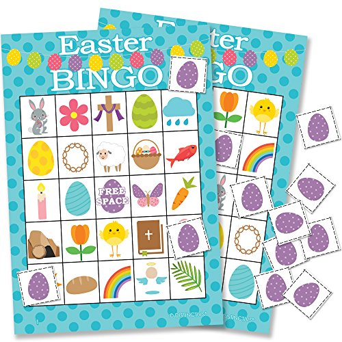 Easter Bingo Game for Kids, 24 Players