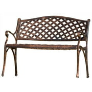 Antique Copper Cast Bench