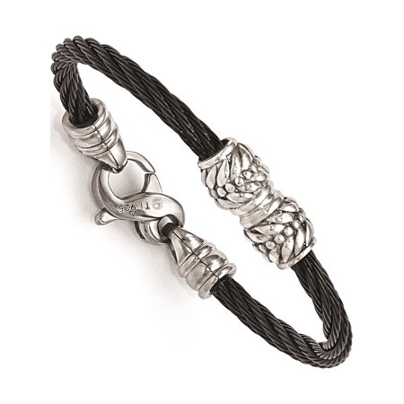Edward Mirell Titanium Cable & Sterling Silver Bead Children's (Edward Mirell Cable)