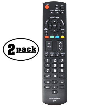 2-Pack Replacement TC-L32C12 HDTV Remote Control for Panasonic TV - Compatible with N2QAYB000504 Panasonic TV Remote Control - image 3 de 3
