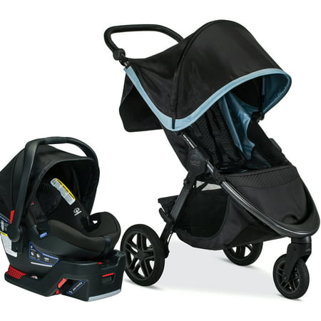 Britax B-Free & B-Safe Ultra Travel System, Frost (Britax B Agile 2014 Travel System Black)