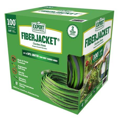 Expert Gardener EGFJH100 Ultra Flexible Kink-Free Fiberjacket Garden Hose
