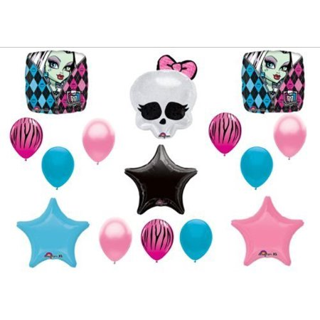 Monster High Skullette Birthday Balloon Bouquet - Monster Themed Birthday