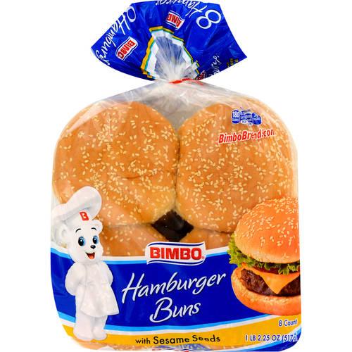 Bimbo Hamburger Buns With Sesame Seeds, 8 count