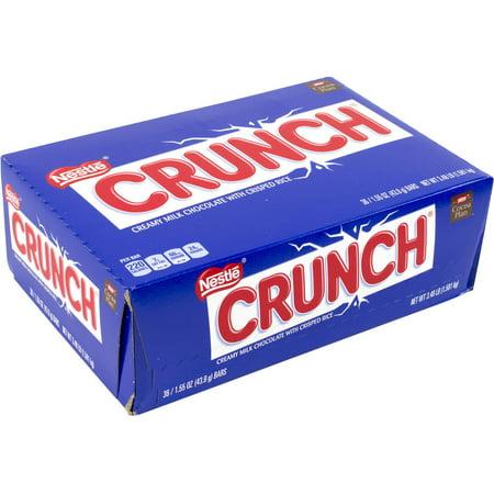 Nestle Crunch Bars, 1.55 oz, 36 count (Crunchy Candy Bar)