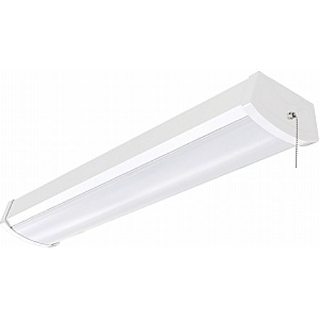 nuvo lighting 2 foot led ceiling wrap fixture with pull chain