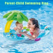 Baby Swimming Ring Sunshade Newborn Infant Swimming Ring Parent Child Activity Pool Float Toy