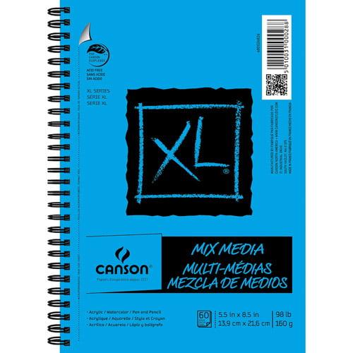 "Canson XL Mix Media 5.5"" x 8.5"" Pad, 50 Sheets"
