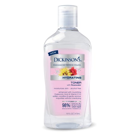 Dickinson's Enhanced Witch Hazel Hydrating Toner with Rosewater, 16 fl (Best Toner For Redness)