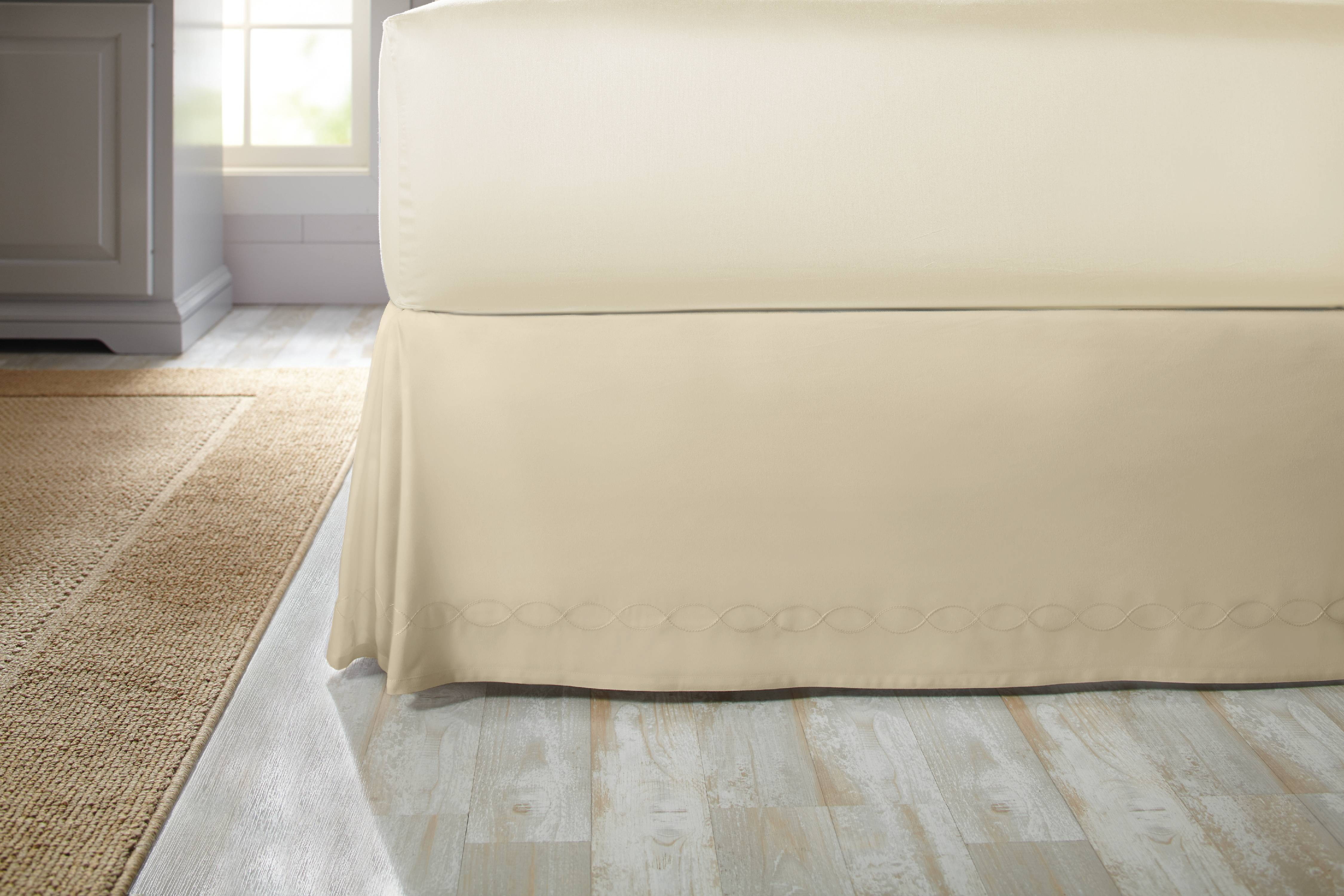 Better Homes & Gardens Chain Stitch Loop Bedskirt by Keeco
