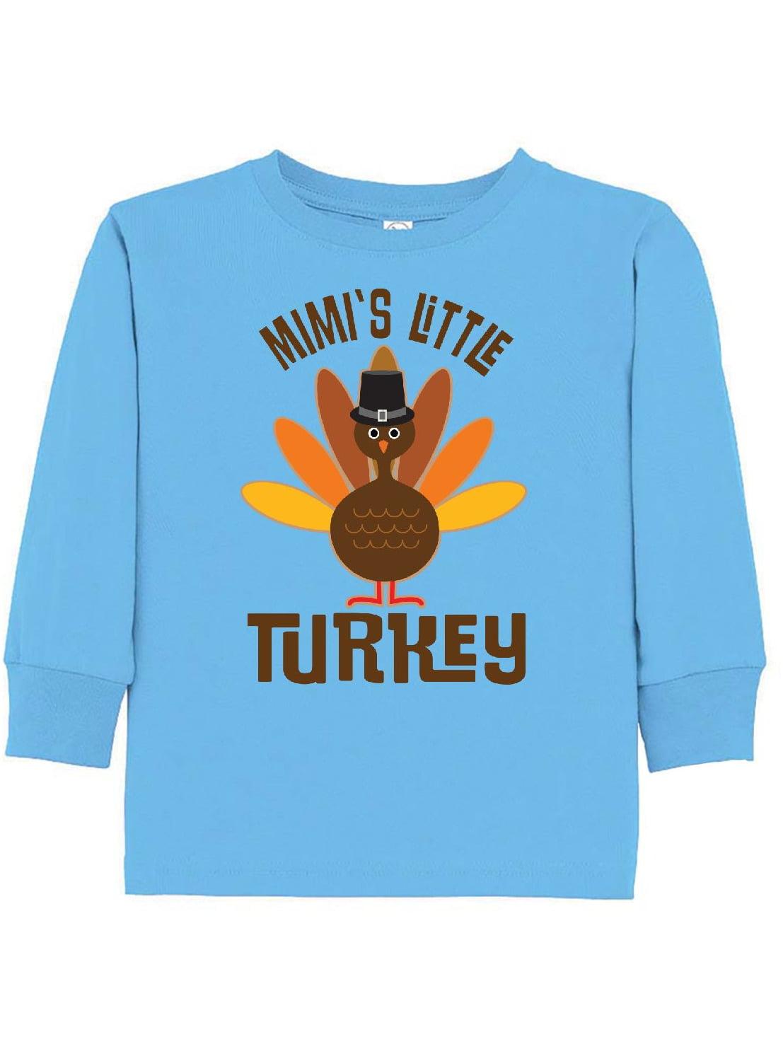 Thanksgiving Mimi Little Turkey Toddler Long Sleeve T-Shirt
