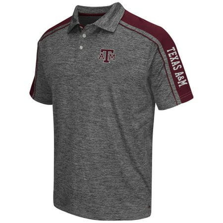 "Texas A&M Aggies NCAA Men's ""Birdie"" Short Sleeve Polo Shirt - Charcoal"