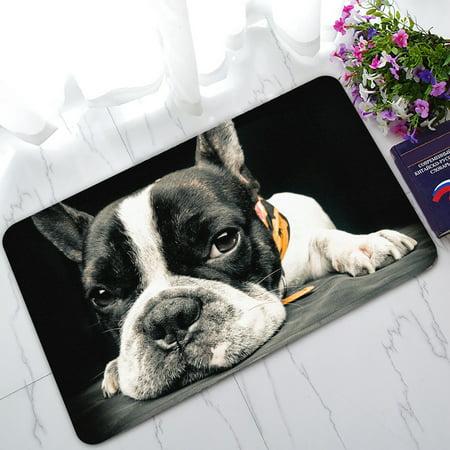 French Bulldog Door - YKCG Funny Dog Animals A French Bulldog Doormat Indoor/Outdoor/Bathroom Doormat 30x18 inches