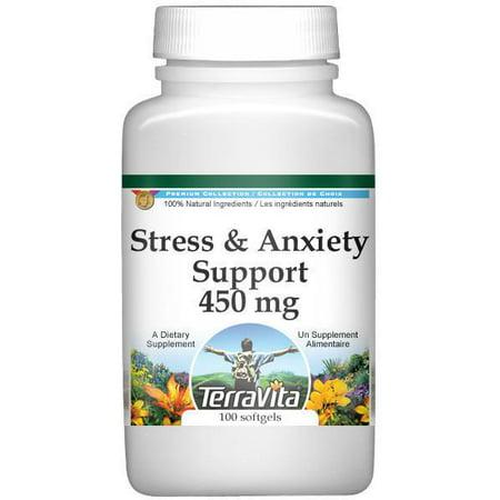 Soutien du stress et l'anxiété - valériane, passiflore et Houblon - 450 mg (100 capsules, ZIN: 518244)