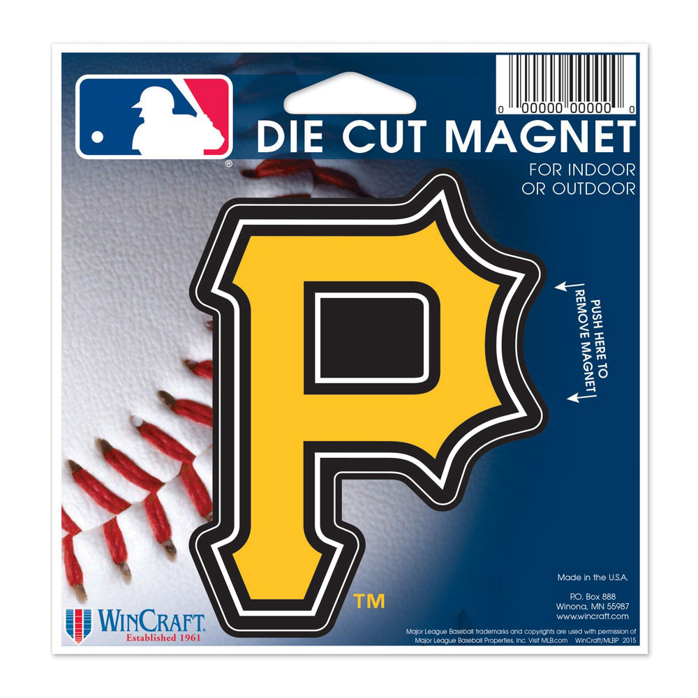"Pittsburgh Pirates WinCraft 5"" Die-Cut Car Magnet - No Size"