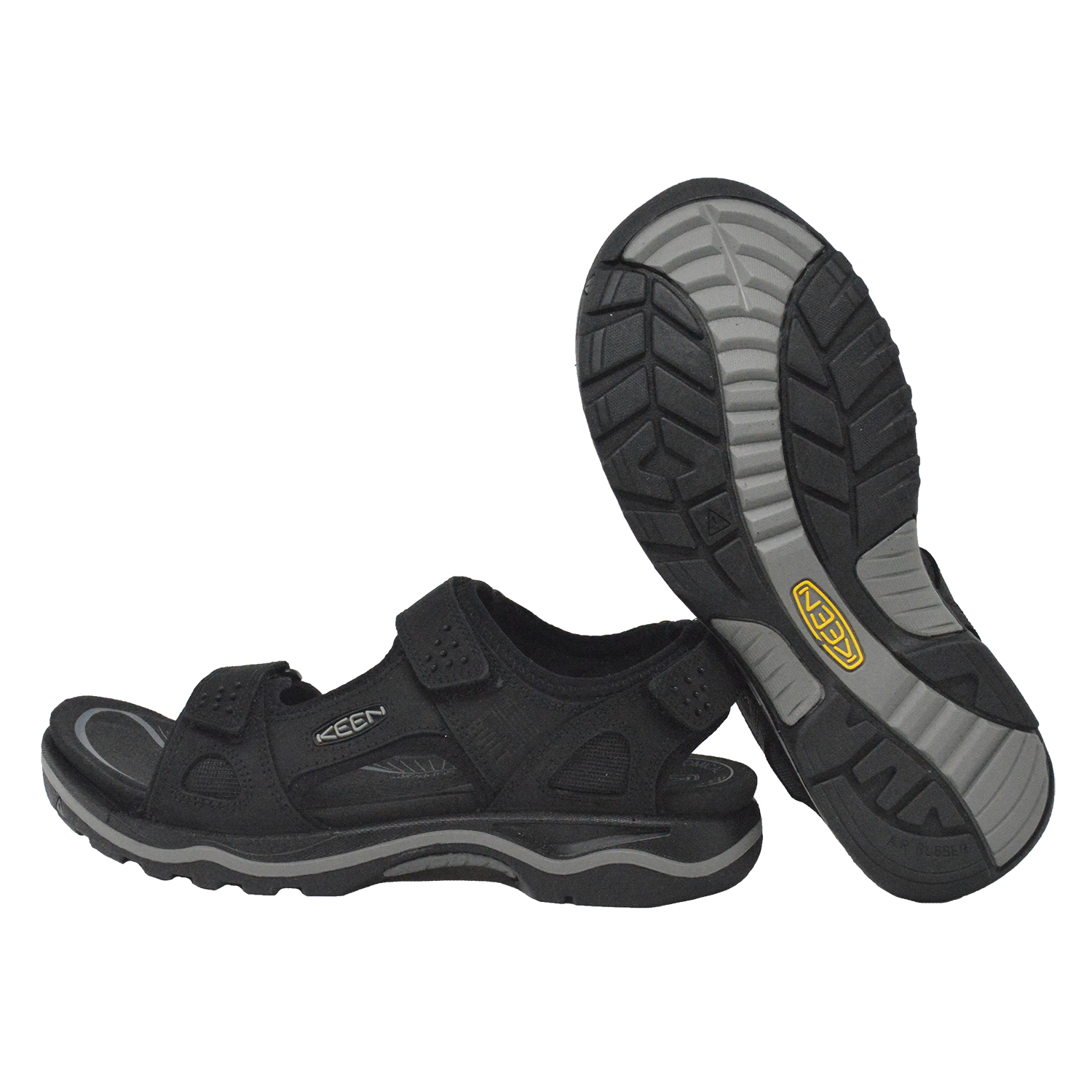 Keen Men's Rialto 3 Point Adjustable Strap Fashion Sandals Black Neutral Gray by Keen