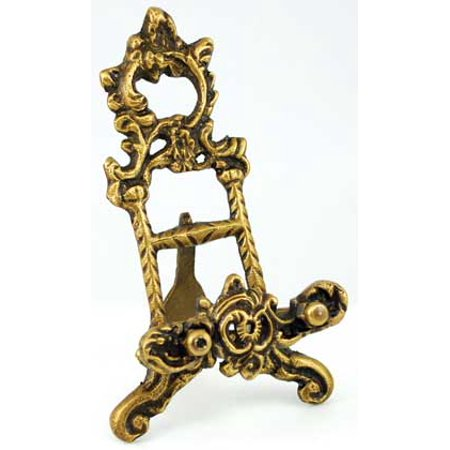 Party Games Accessories Halloween Séance Scrying Mirror Holder of Brass Ornate Design 6