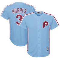 431c20b2 Product Image Bryce Harper Philadelphia Phillies Majestic Youth Official  Cool Base Player Jersey - Light Blue