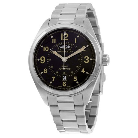 Khaki Field Day Date Auto Black Dial Mens Watch - Auto Black Dial