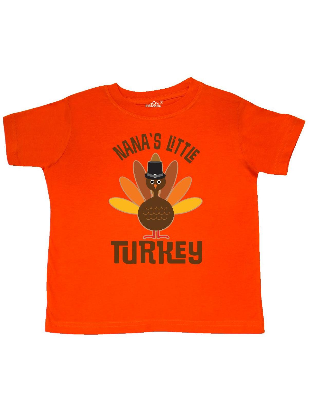 Thanksgiving Nana Little Turkey Toddler T-Shirt