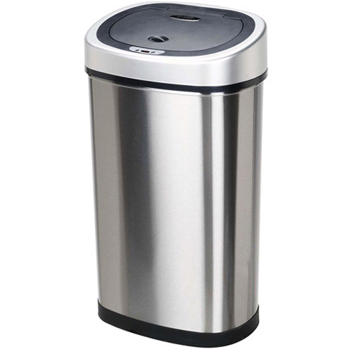 nine stars motion sensor slim touchless 13gallon trash can stainless steel