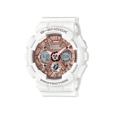 Beetle Dial Watch (Casio Women's G-Shock S Series Rose Gold Dial Sports Watch GMAS120MF-7A2 )