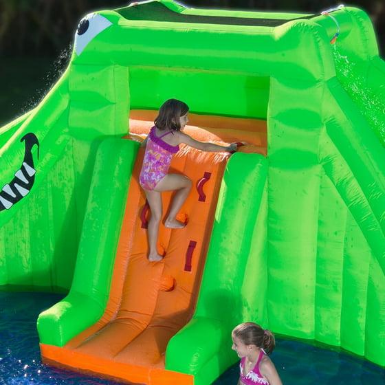 blast zone crocodile isle dual water slide walmart com