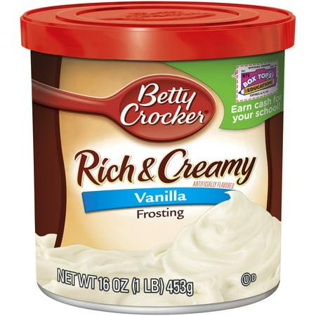 Betty Crocker Gluten Free Frosting Rich & Creamy Vanilla ...