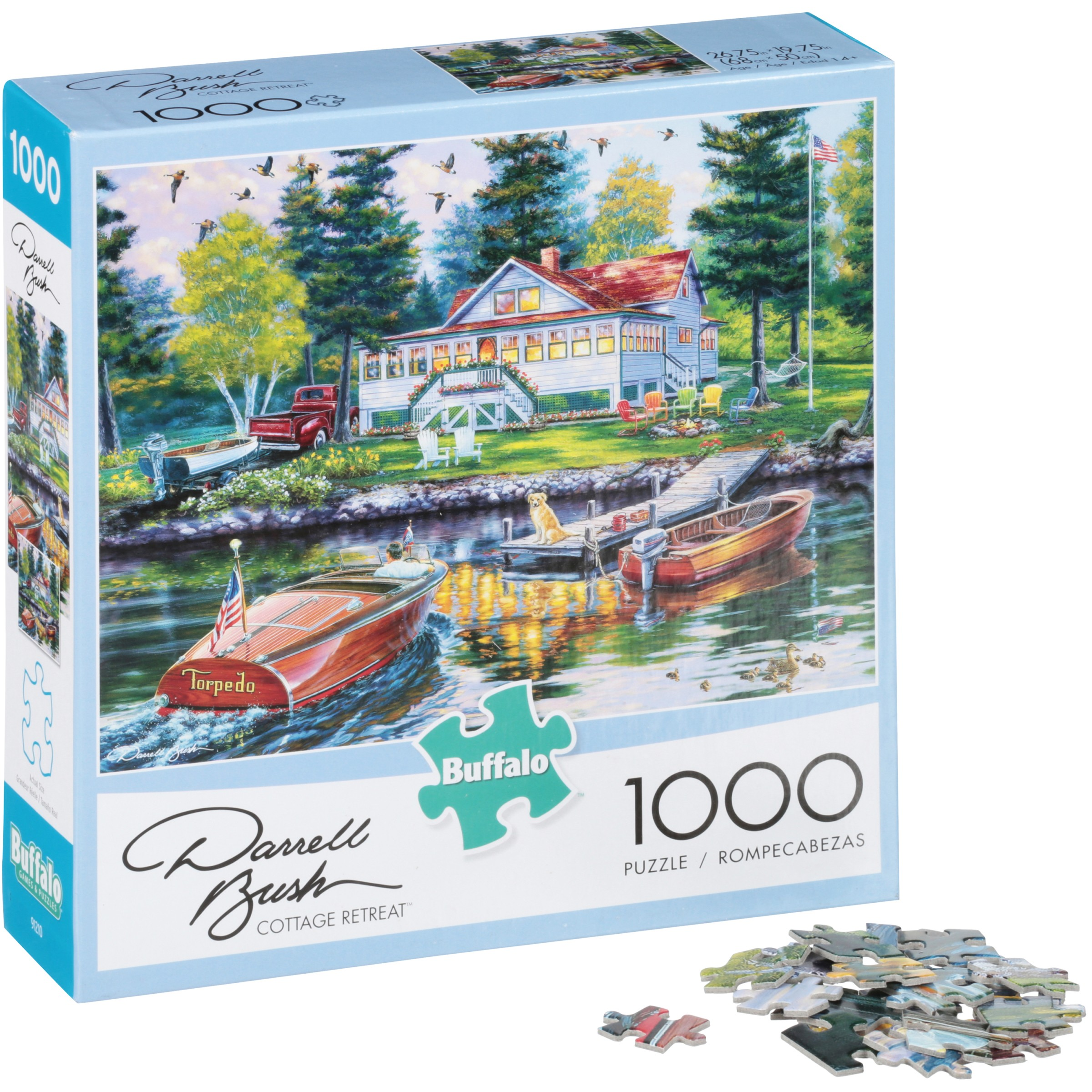 Buffalo Darrell Bush Cottage Retreat 1000 pc Puzzle by Buffalo Games, LLC