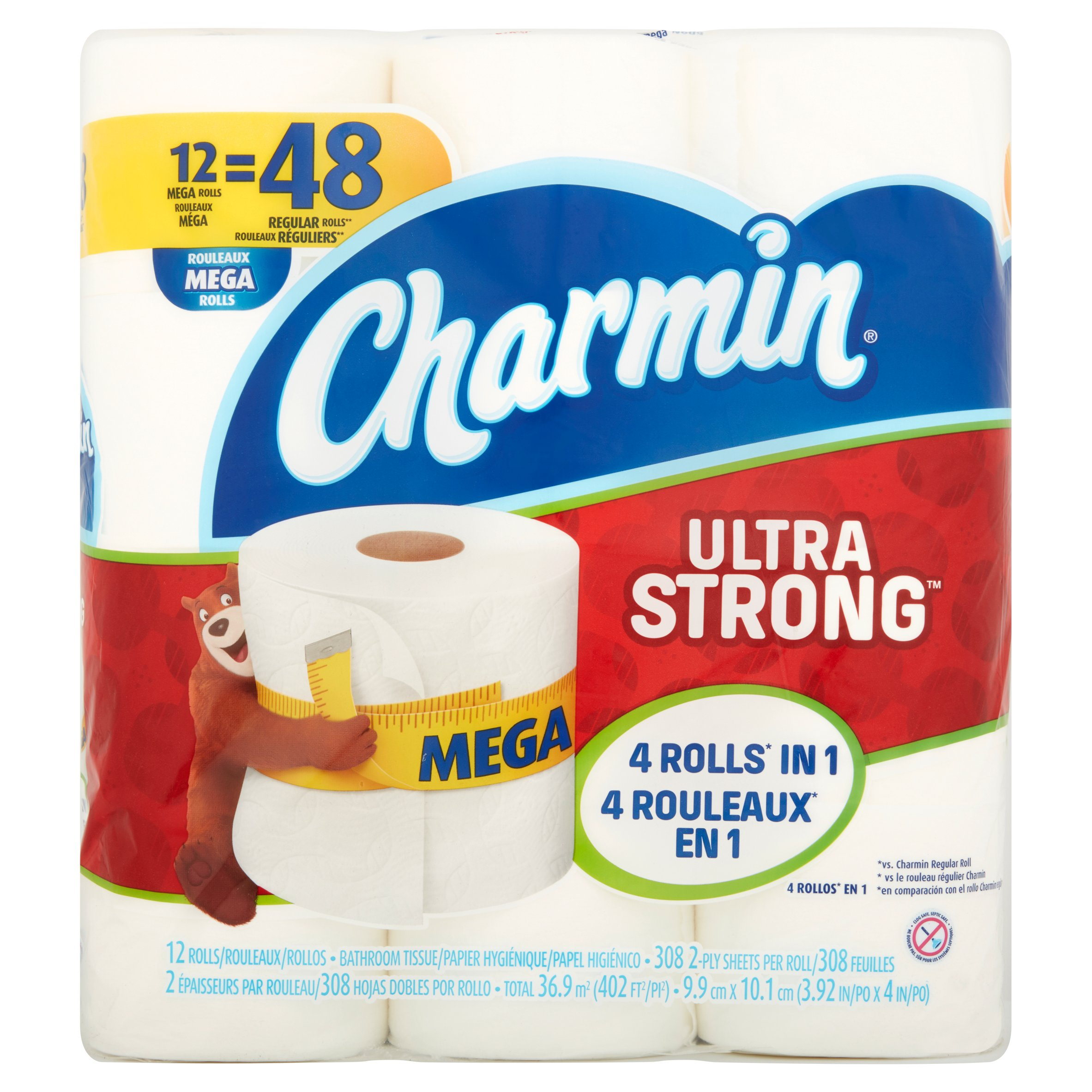 Charmin Ultra Strong Toilet Paper 12 Mega Rolls by Procter & Gamble