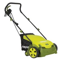 Sun Joe AJ801E Electric Lawn Dethatcher w/ Collection Bag , 13 inch - 12 Amp , Scarifier