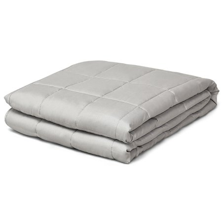 7/12/15/17/20/22/25 lbs Weighted Blankets Full /Queen/King Size 100% Cotton w/ Glass Beads Light Grey