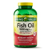 Spring Valley Fish Oil Omega-3 for Heart Health Softgels, 1000 Mg, 300 Ct