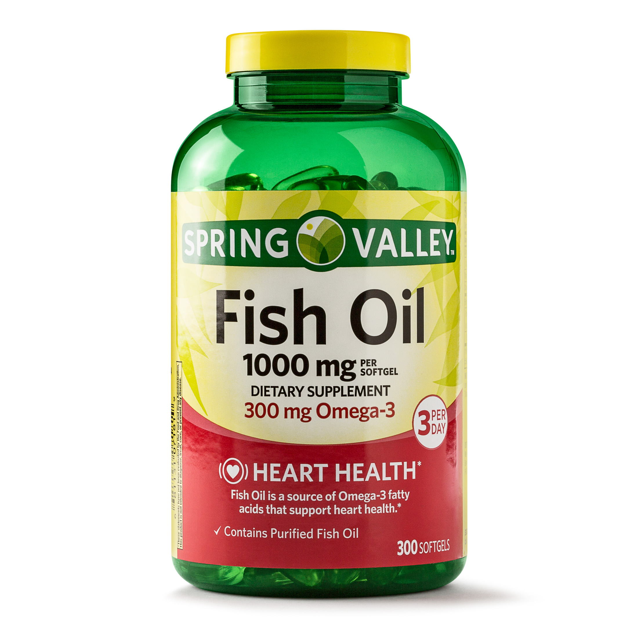 Spring Valley Fish Oil Softgels, 1000 mg, 300 Ct
